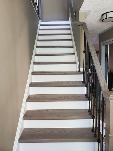 Staircase And Luxury Vinyl Planks Installation