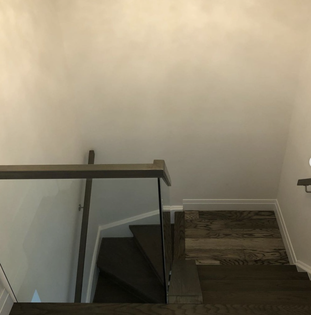 Stair Renovation With Glass